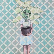 Girl In The Greenery
