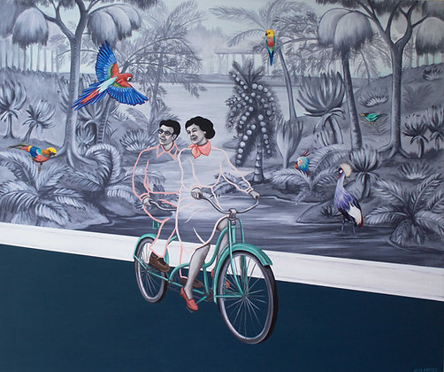 It Was A Beautiful Day To Bicycle Through The Back Hall Limited Edition Print