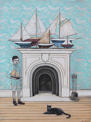 Ships On The Mantle - Limited Edition Fine Art Print