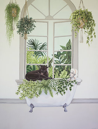 Jane And Leroy Soak In The Greens LE Print