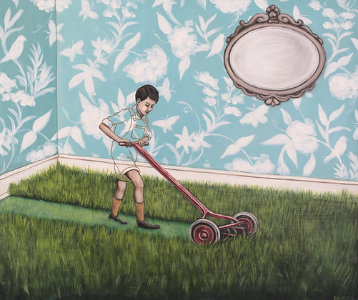 Timmy's Turn To Mow The Living Room - Limited Edition Fine Art Print