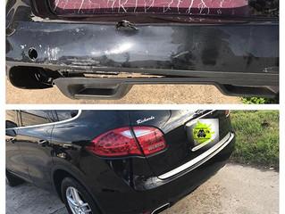 Bumper repair on Porsche Cayenne
