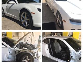 Collision repair on the Camaro