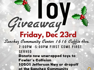 First Annual toy give away .          December 23,2016