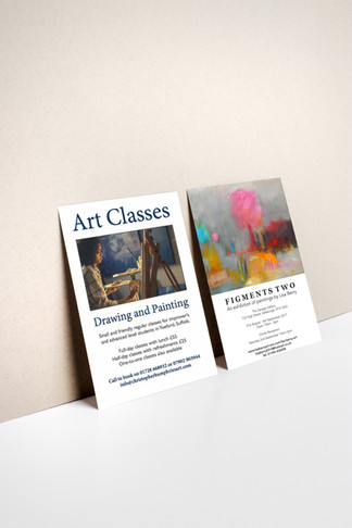 Exhibition Flyer for Lisa Berry and Art
