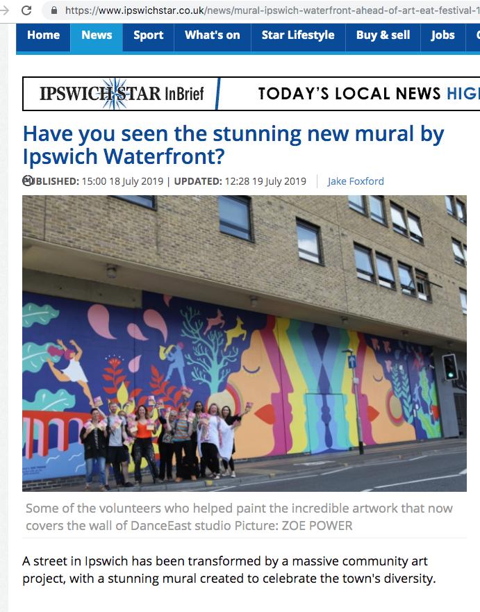 Ipswich Star Mural 1