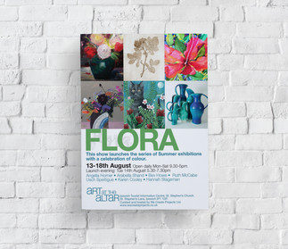 Flora Art at the Altar Exhibition Flyer.