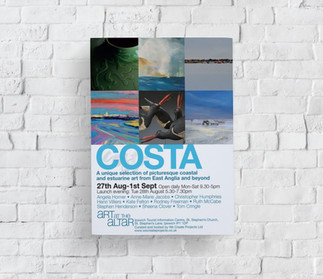 Costa Art at the Altar Exhibition Flyer.