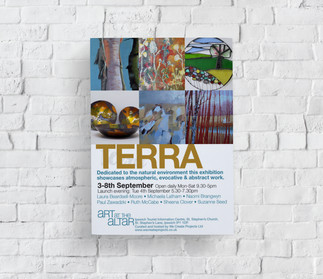 Terra Art at the Altar Exhibition Flyer.