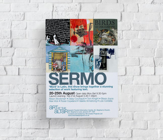 Sermo Art at the Altar Exhibition Flyer.
