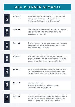 Azul Simples Semanal Geral Planejador (2