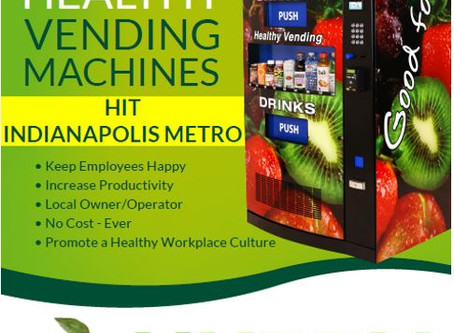 FREE Healthy Snack and Drink Machine Options in Indianapolis and Surrounding Areas!