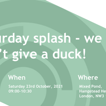 Saturday splash - we don't give a duck!