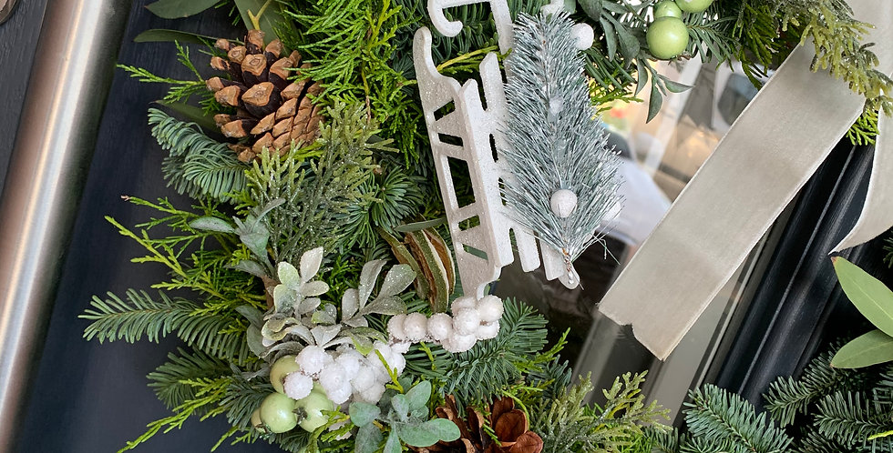 Real foliage Christmas wreath