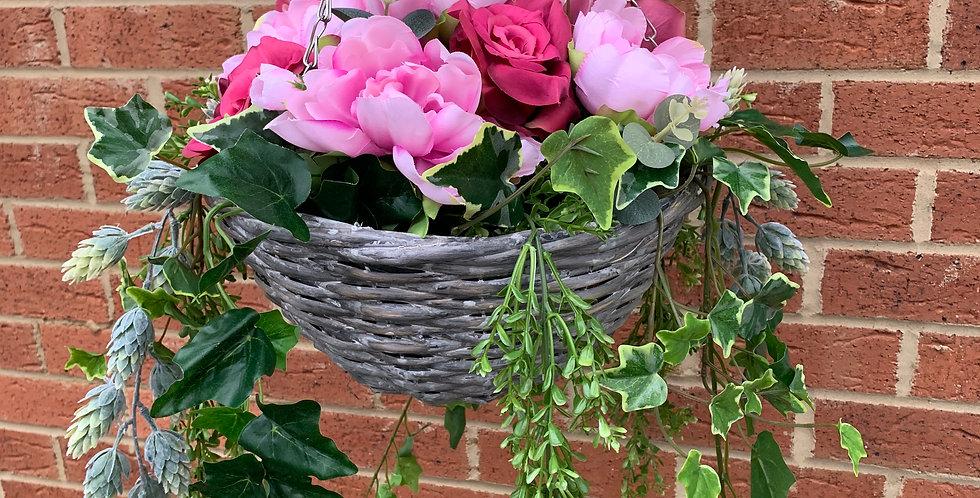 Pink Summer Hanging Basket