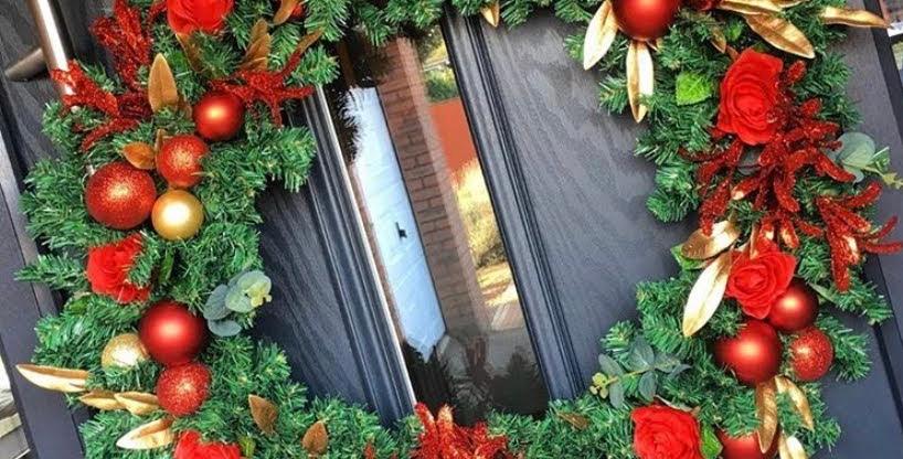 Extra large bespoke Christmas wreath.