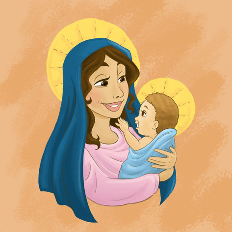 Holy Mary and Child Jesus