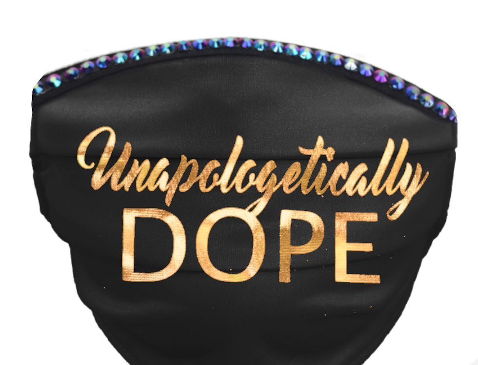 Unapologetically Dope Bling Mask