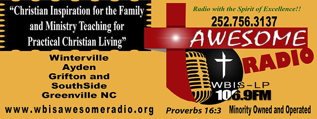WBIS-LP 106.9 FM Greenville Awesome Radio station gospel