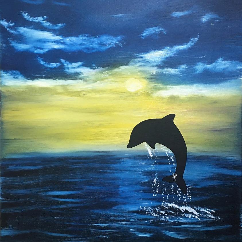 Bob Ross Painting Class Dolphin