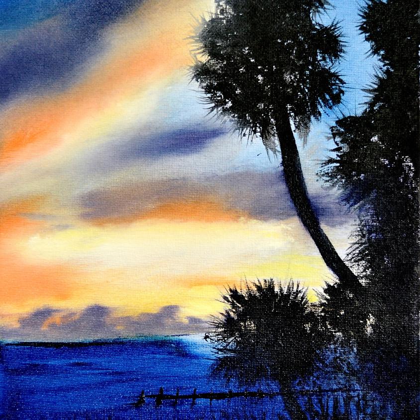 Bob Ross Style Painting Class: Sebastian Sunrise