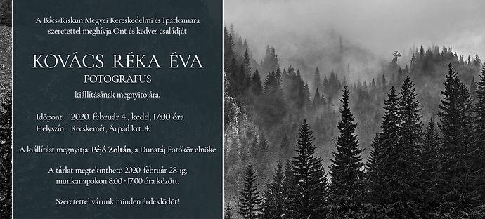 Kovács Réka Éva fotkiállítás meghívó