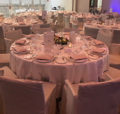Tables at the evening