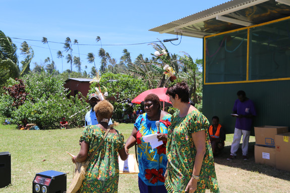 A ceremony for the newly certified teachers at the MONETON Playschool,PNG