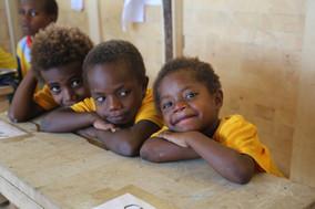 Young students in MONETON Playschool, Kokopo, Papua New Guinea