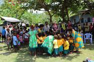 Dance at the MONETON Playschool, Kokopo , Papua New Guinea