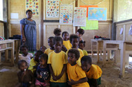 A classroom at the MONETON Playschool, Kokopo, Papua New Guinea