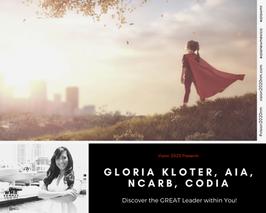 GLORIA KLOTER, AIA, NCARB, CODIA
