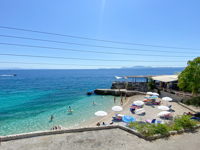 Nissaki is a small bay with a lovely taverna