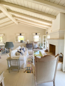 The interiors are modern rustic and very calming