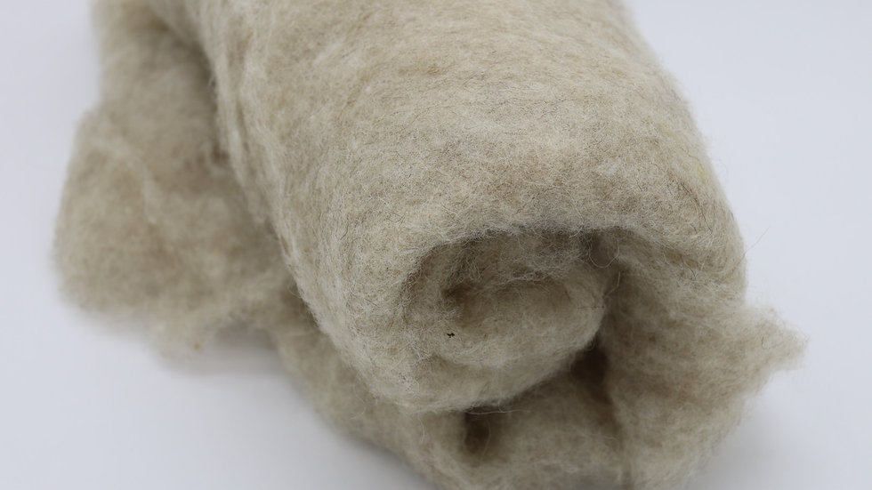 Tiroler Schafwolle im Vlies - beige (100gr.)