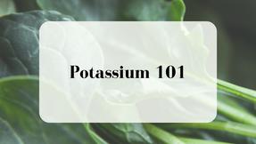 Potassium: A Nutrient of Concern