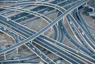 Straßen-und Brückenbau-Netzwerk