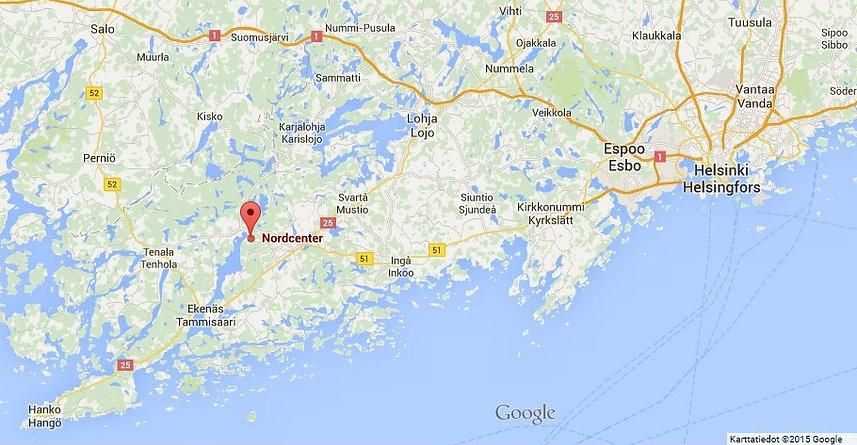 Nordcenter Kartta