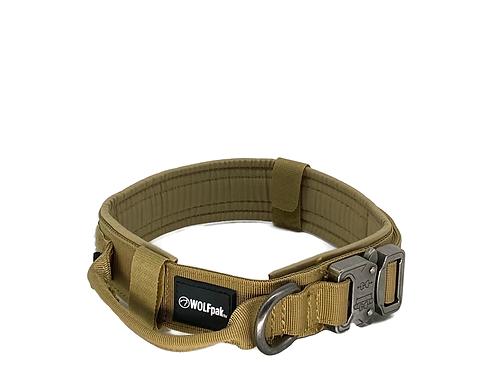 Tactical Nylon Dog Collar Khaki