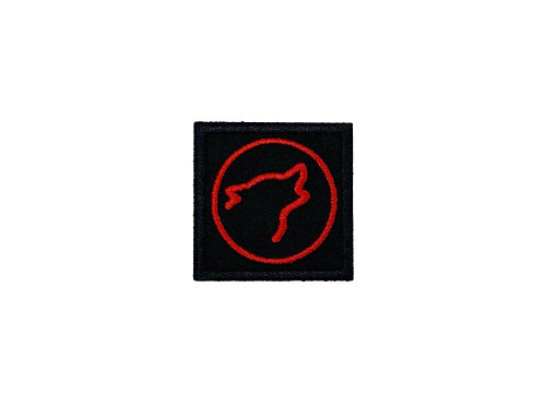 Wolf Head Logo Black/Red
