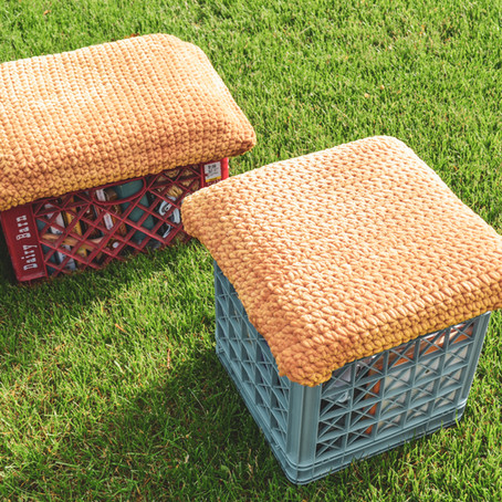 DIY Milk Crate Seat