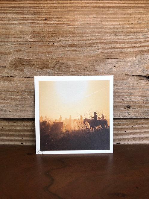 "4x4 Mini Print ""Moving Cattle"""