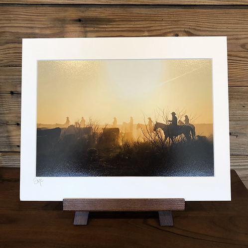 "11x14 Matted Print ""Moving Cattle"""