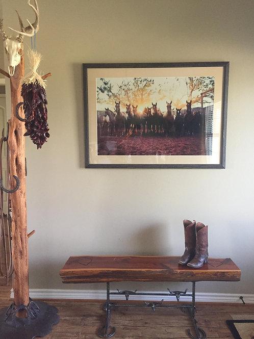 """Brown Ranch Babies"" Large Framed Print"