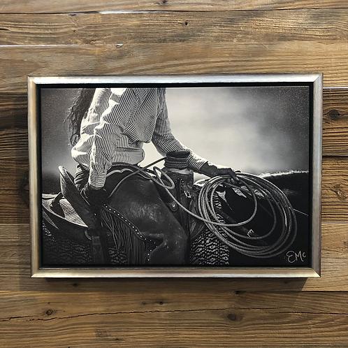 """""""Oregon Cowgirl""""   Custom Framed Canvas"""