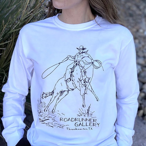 """""""Spooked"""" Long Sleeve White Tee"""