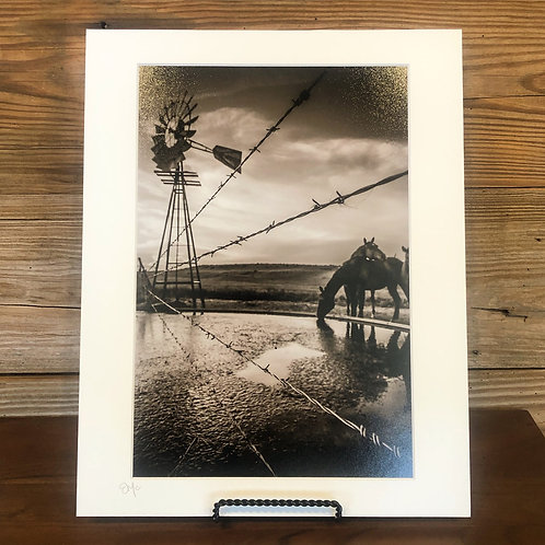 """11x14 Matted Print """"After Work Drinks"""""""
