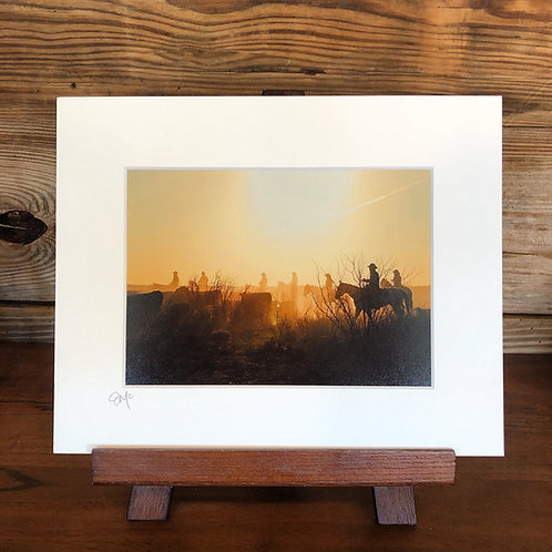 "8x10 Matted Print ""Moving Cattle"""