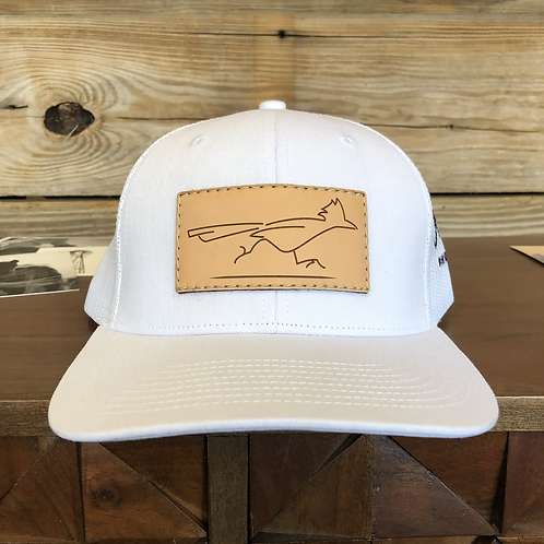PREORDER White Leather Patch Cap