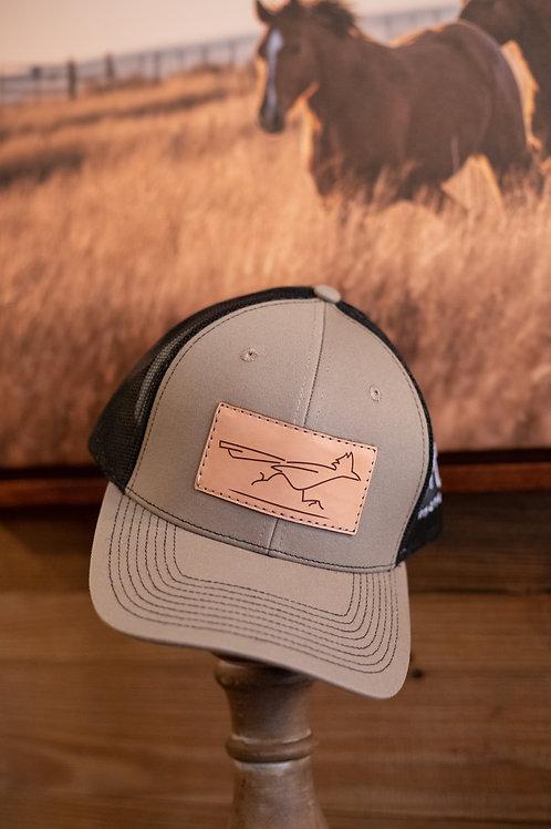 Tan Leather Patch Cap